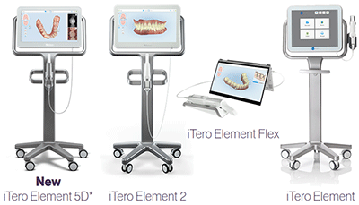 iTeroエレメントの種類